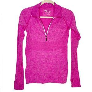 Actra sz M/L hot pink exercise jacket 1/4 zip